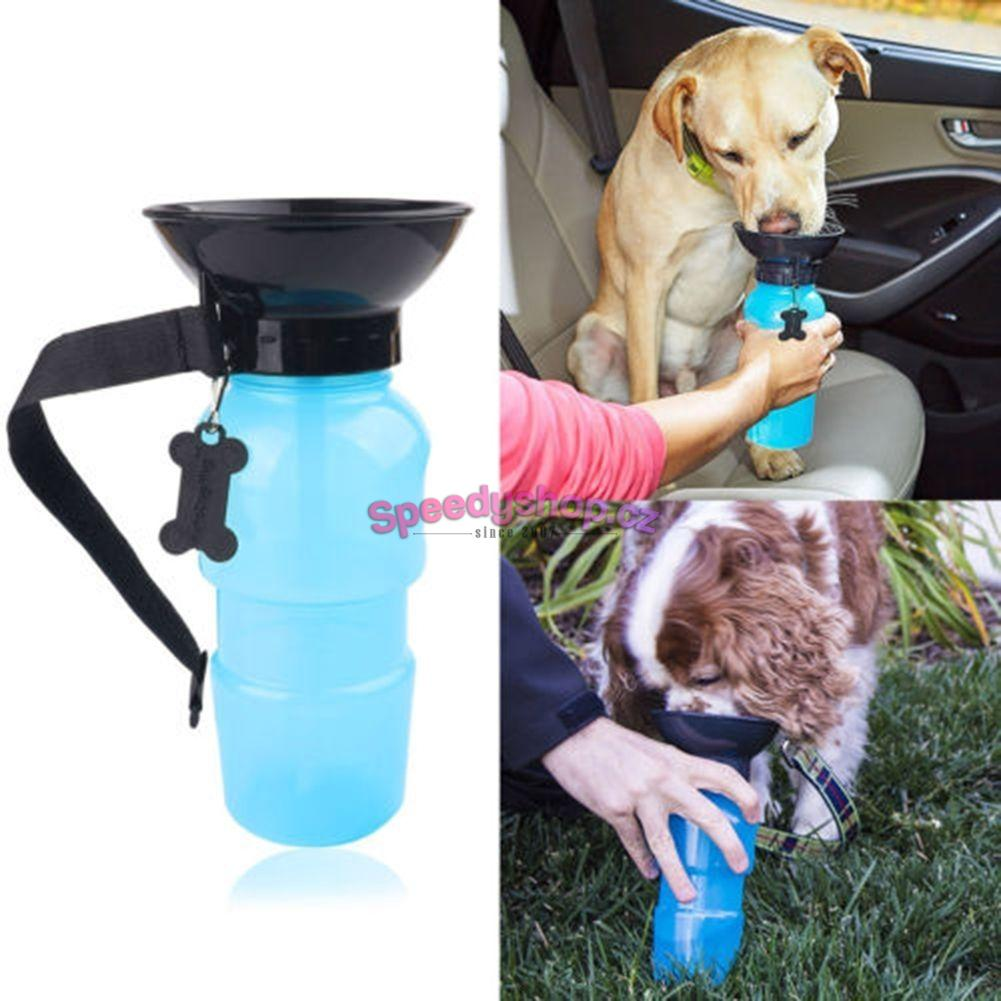 Water Bottle Agua Dog blue