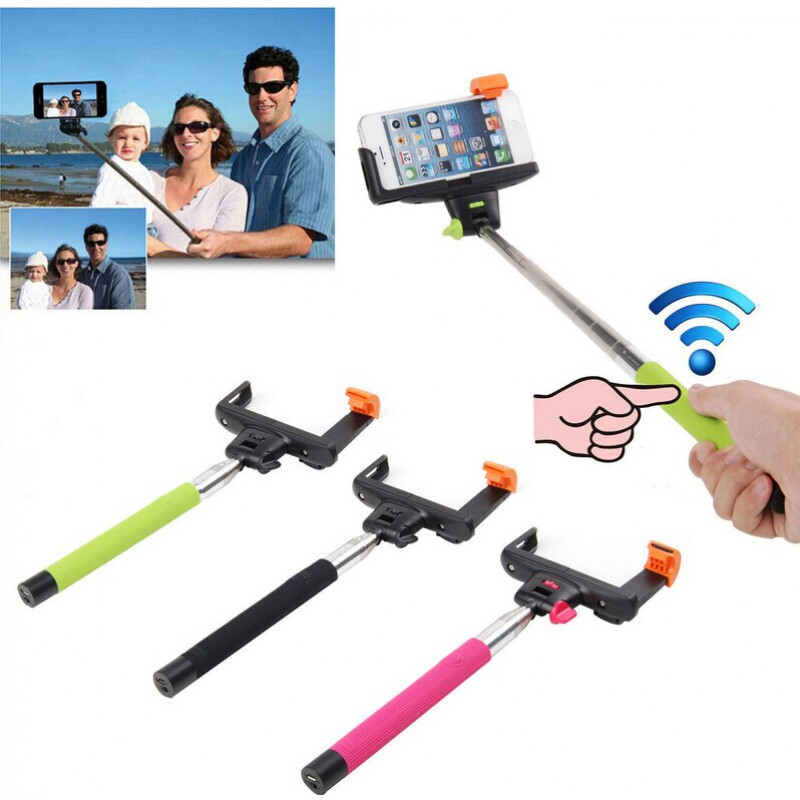 Wireless Mobile Phone Monopod Bluetooth Z07-5, pink