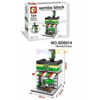 Stavebnice Sembo, model fast food 6014